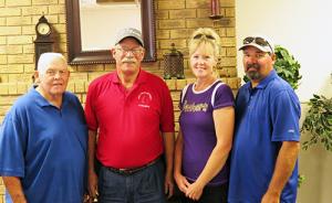 Winners of the 2013 Annual Church Golf Tournament are Dan Duncan, Les Cleek, Kristi and Ray Cameron.