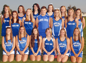 High School Cross-CountryTeam (l to r), Back Row: Alex Taylor, Angela Parsley, Courtney Barrow, Cassidy Crutchfield, Merritt Mitchell and Skylar Freeman. Middle Row: Lauren Cotton, Amber Sons, Carter Estes, Chancie King and Caylee Hill. Front row: Jaden Freeman, Raegan Brown, Macey Hendricks, Raven Edwards, Rylee Brown and Mikayle Roberts.