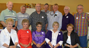 Pictured, back-left to right, are Danny Haskin, Jerry Hawkins, Mike Smith, Larry Nunn, David Armstrong, Curtis Downs and Marvin Bender; and front-left to right, Carolyn Garner Kelley, Judy Jay Christian, Betty Davis Robertson, Carolyn Vinson Parker and Linda Urbanczyk Kintz.