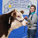 Ashby Dauer of Panhandle 4-H exhibited the  Reserve Supreme Heifer
