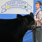 Braedyn Kowalewski of Panhandle FFA exhibited the  Grand Champion Steer