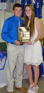 Andrew Bichsel was named Male Athlete of the Year and Cassidy Crutchfield was named Female Athlete of the Year.  Photo courtesy of Kane Barrow