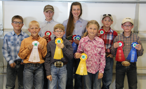 Pictured, front - left to right, Spencer Keys, Christopher McLaughlin and Whitney Kennedy; back - left to right,  Tayte Ogletree, Jared Dauer, Ashby Dauer, Hunter Thompson, and Jett Bradford.