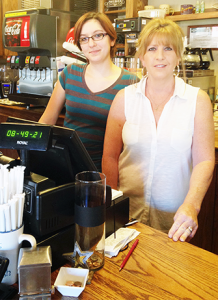 Coffee Haven owner, Christie Allen and Barista Kayla Campbell are ready to serve you.