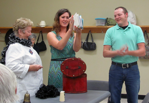 55+ Club Members surprised Accolade Health Care Representative Lindsey Been and her soon-to-be husband Kacey Presson with a special wedding gift. The couple are to be married on Oct. 9. Photo by Ann Metcalf